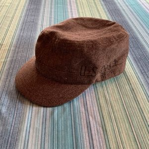 "Old Navy Brown ""Newsboy style"" Vintage Hat"